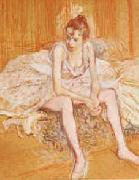 Henri  Toulouse-Lautrec Dancer Seated oil painting picture wholesale