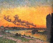 J B Armand  Guillaumin Sunset at Ivry oil painting picture wholesale