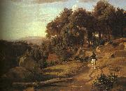 Jean Baptiste Camille  Corot A View near Volterra_1 oil painting picture wholesale