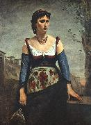 Jean Baptiste Camille  Corot Agostina2 China oil painting reproduction