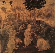 Leonardo  Da Vinci Adoration of the Magi oil painting reproduction