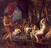 Titian Diana and Actaeon oil painting