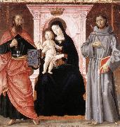 Madonna Enthroned with the Infant Christ and Saints jj