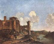 ASSELYN, Jan Italian Landscape with SS. Giovanni e Paolo in Rome oil painting