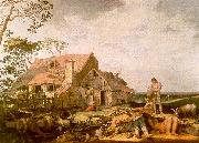 Abraham Bloemart Landscape with Peasants Resting oil painting reproduction