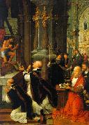Adriaen Isenbrandt The Mass of St.Gregory oil painting