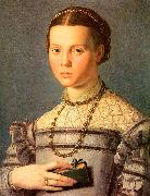 Agnolo Bronzino Portrait of a Young Girl with a Prayer Book oil painting picture wholesale