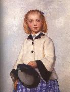 Albert Anker The Artist's Daughter Louise oil painting