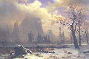 Albert Bierstadt Yosemite Winter Scene oil painting picture wholesale