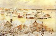 Albert Edelfelt December Day oil painting