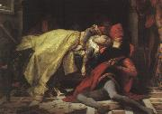 Alexandre  Cabanel The Death of Francesca da Rimini and Paolo Malatesta oil painting