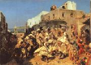 Alfred Dehodencq Blacks Dancing in Tangiers oil painting