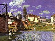 Alfred Sisley The Bridge at Villeneuve la Garenne oil painting artist
