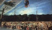 Antonio  Carnicero Balloon Ascent at Aranjuez oil painting artist