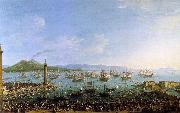 Antonio Joli The Embarkation of Charles III in the Port of Naples oil painting picture wholesale