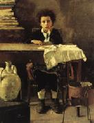 Antonio Mancini The Poor Schoolboy oil painting reproduction