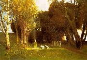 Arnold Bocklin The Sacred Wood oil painting