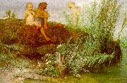 Arnold Bocklin Children Carving May Flutes oil painting picture wholesale