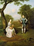 Arthur Devis Sir Nathaniel and Lady Caroline Curzon oil painting