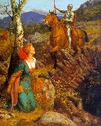 Arthur Hughes Gareth Helps Lyonors and Overthrows the Red Knight oil painting picture wholesale