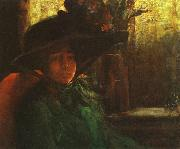 Artur Timoteo da Costa Lady in Green oil painting