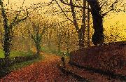 Atkinson Grimshaw Stapleton Park near Pontefract oil painting picture wholesale