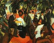 August Macke Garden Restaurant oil painting picture wholesale