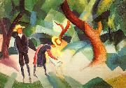 August Macke Children with Goat oil painting picture wholesale