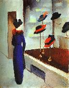 August Macke Milliner's Shop oil painting picture wholesale