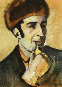 August Macke Portrait of Franz Marc oil painting picture wholesale