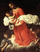 BAGLIONE, Giovanni The Virgin and the Child with Angels oil painting