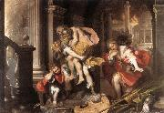 BAROCCI, Federico Fiori Aeneas' Flight from Troy oil painting picture wholesale