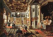 Renaissance Interior with Banqueters f