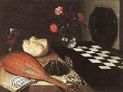 BAUGIN, Lubin Still-life with Chessboard (The Five Senses) fg oil painting