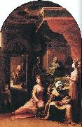 BECCAFUMI, Domenico Birth of the Virgin dfgf oil painting