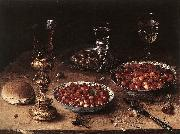 BEERT, Osias Still-Life with Cherries and Strawberries in China Bowls oil painting picture wholesale