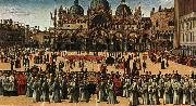 BELLINI, Gentile Procession in Piazza S. Marco oil painting picture wholesale