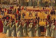 BELLINI, Gentile Procession in Piazza S. Marco (detail) ll95 oil painting picture wholesale