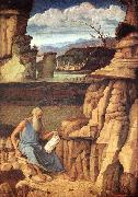 BELLINI, Giovanni St Jerome Reading in the Countryside oil painting picture wholesale