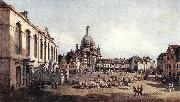New Market Square in Dresden from the Jdenhof