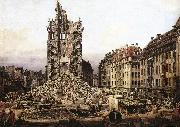 BELLOTTO, Bernardo The Ruins of the Old Kreuzkirche in Dresden gfh oil painting picture wholesale