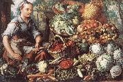 BEUCKELAER, Joachim Market Woman with Fruit, Vegetables and Poultry  intre oil painting picture wholesale