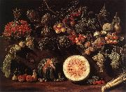 BONZI, Pietro Paolo Fruit, Vegetables and a Butterfly oil painting