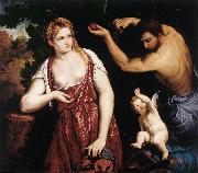 BORDONE, Paris Venus and Mars with Cupid oil painting