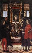 BORGOGNONE, Ambrogio St Ambrose with Saints fdghf oil painting