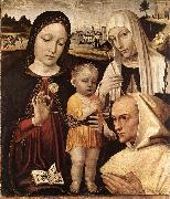 BORGOGNONE, Ambrogio Madonna and Child, St Catherine and the Blessed Stefano Maconi fgtr oil painting