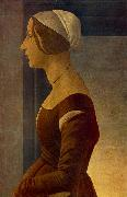 BOTTICELLI, Sandro Portrait of a Young Woman (La bella Simonetta) fs oil painting picture wholesale