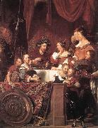 BRAY, Jan de The de Bray Family (The Banquet of Antony and Cleopatra) dg oil painting