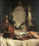 BRAY, Joseph de Still-life in Praise of the Pickled Herring df oil painting artist