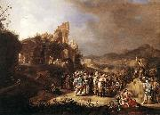 BREENBERGH, Bartholomeus The Preaching of St John the Baptist oil painting artist